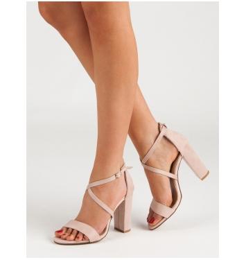Dámske béžové sandále  - NC802BE