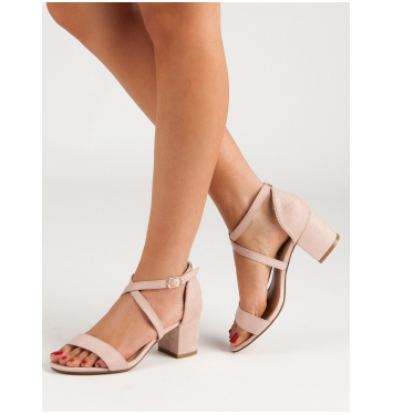 Dámske béžové sandále  - NC797BE