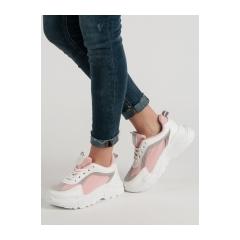 edc9c9ecaf208 Dámske bielo ružové tenisky - LT1001-2P