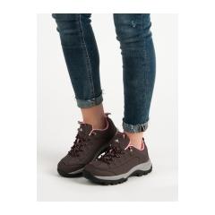 Dámske hnedé trekingové topánky  - DOME-BR