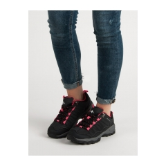 Dámske čierne trekingové topánky  - CLIFF-B