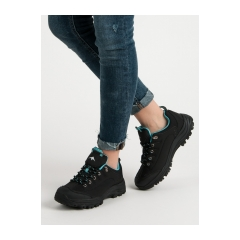Dámske čierne trekingové topánky  - DOME-B