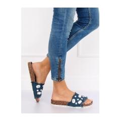7f1795a1efb4 Dámske modré džínsové šľapky - CK100