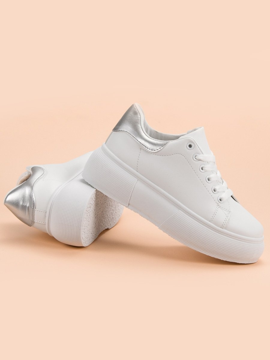 60d51da1919f Dámske biele tenisky na platforme - 2018-1S