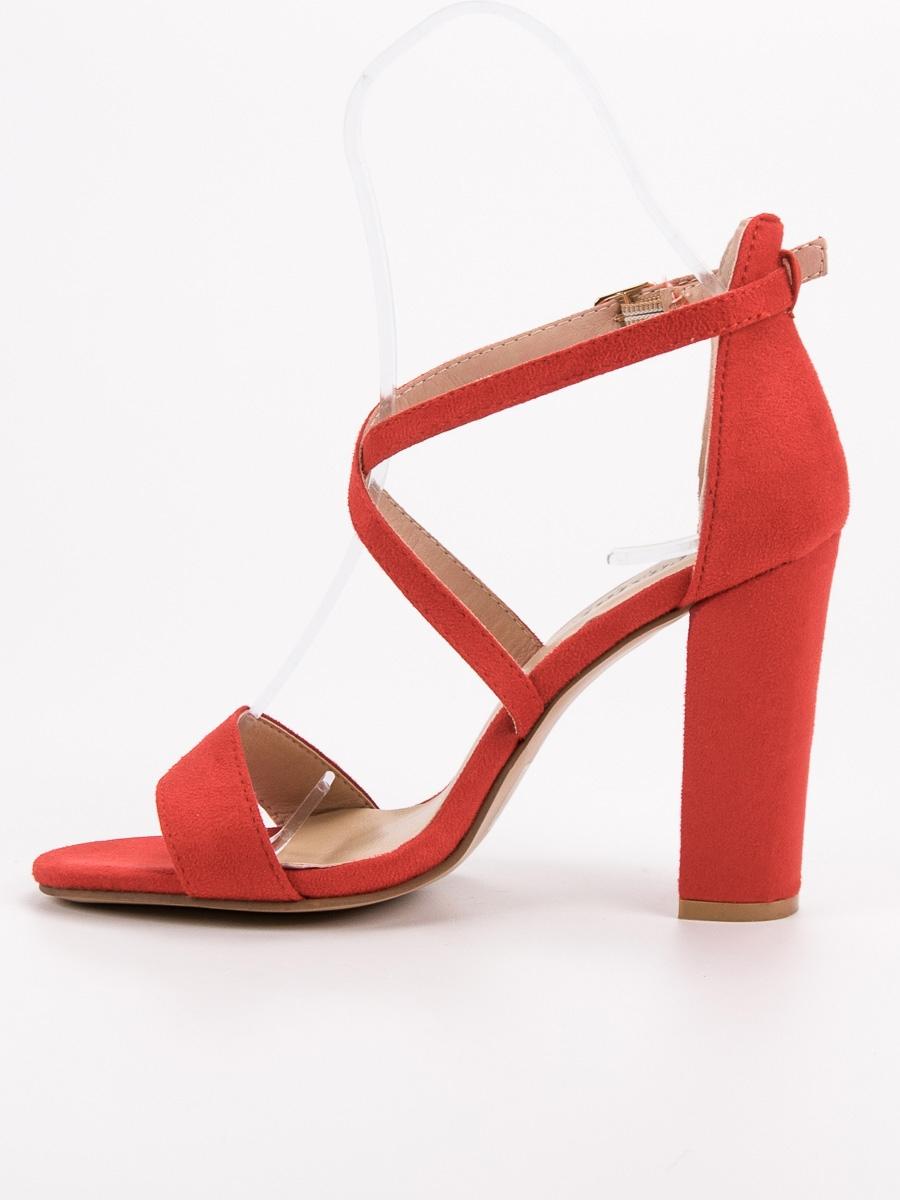 b8bc1d6be0 Dámske elegantné červené sandále - NC802R