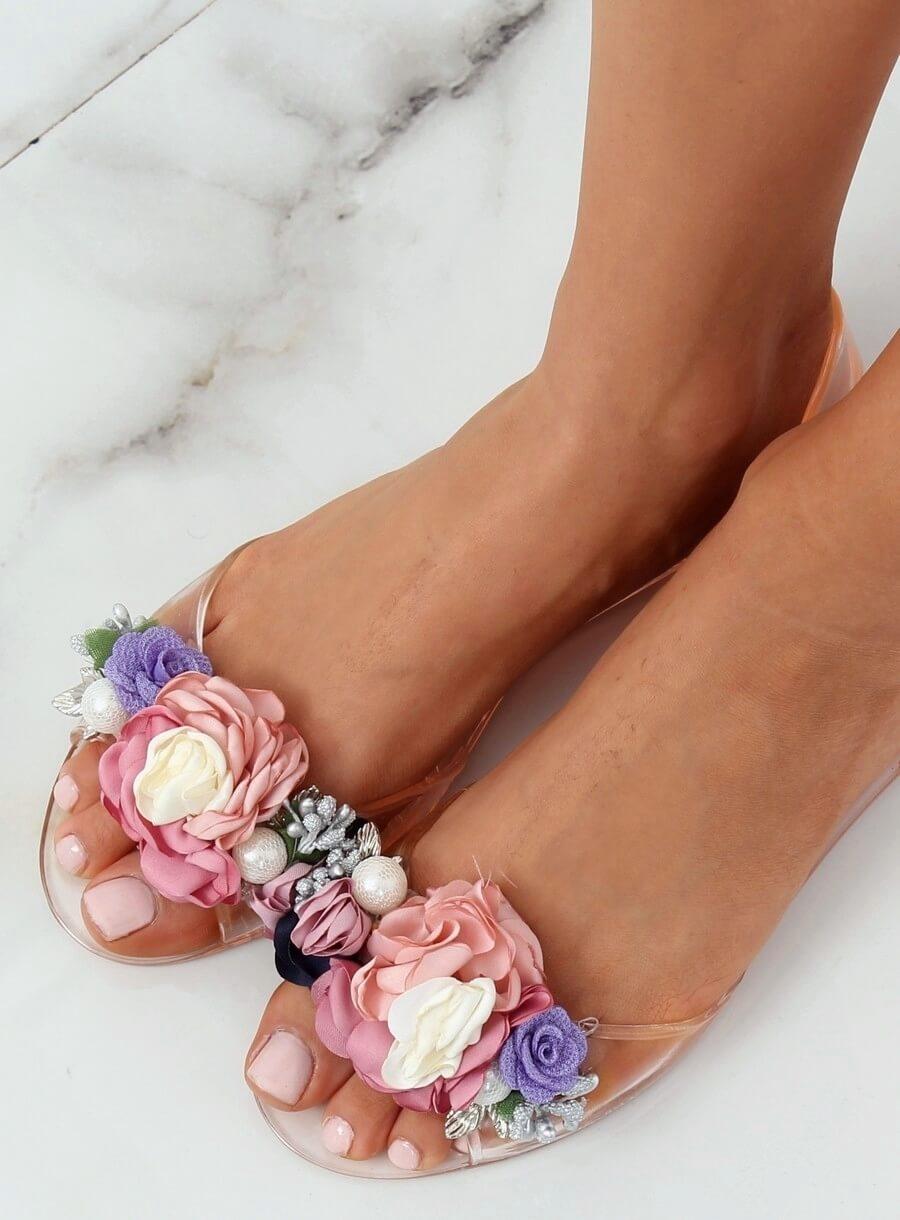 9732b6162ca7 Dámske ružové gumové sandále - 7620-PL