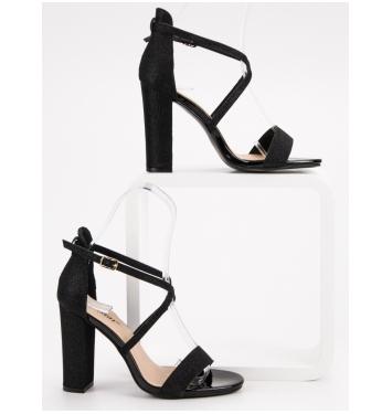 Dámske čierne elegantné sandále  - NC791B