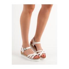 0270ffee2e6a Dámske biele sandále s kamienkami - GG-64W