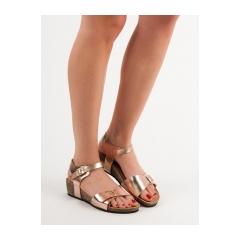 Dámske ružové sandále na kline  - SK46CH