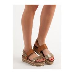 67aff82a52ff Dámske hnedé sandále na platforme - AK26C