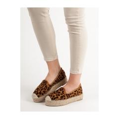 Dámske leopardie lordsy na platforme  - 3M37-51LEO