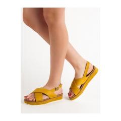 Dámske žlté sandále  - GD-OD-14Y