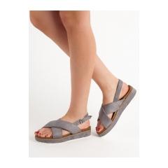 Dámske šedé sandále  - GD-OD-14G