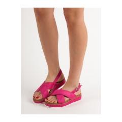 Dámske fuchsiové sandále  - GD-OD-14PE