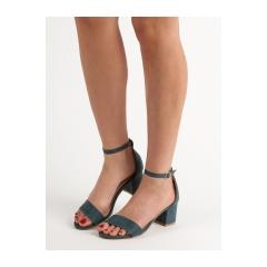 Dámske modré sandále  - 1557-11BL