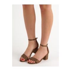 Dámske hnedé sandále  - 1557-29OL/GR