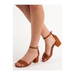 Dámske hnedé sandále  - 1557-17C