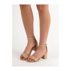 Dámske béžové sandále  - 1557-14BE