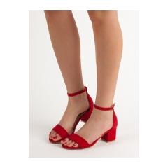 Dámske červené sandále  - 1557-19R