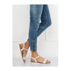 Dámske strieborné sandále - S18-33