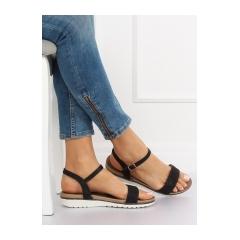 Dámske čierne sandále - S18-33