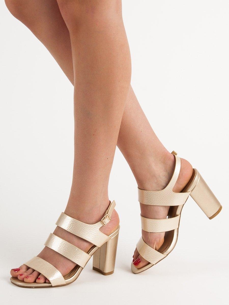 518c7ef373 Dámske zlaté sandále - OD-336LT.GO