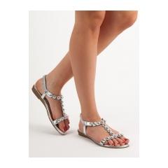 fd3e9da52f80a Dámske strieborné sandále - SJ01S