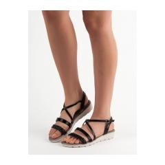 6fa86e5db707 Dámske čierne sandále na platforme - K1915005NE