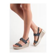 3bbcd1afbeca Dámske modré sandále na kline - A119-04-01N