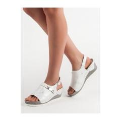 a51974e85495 Dámske biele pohodlné sandále na kline - GD-FL275W