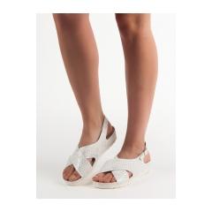 c2534a11b926 Dámske biele sandále na platforme - GD-FL269W