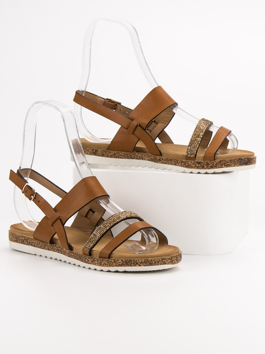 50d2f0438 Dámske hnedé sandále - D-115C | dawien.sk