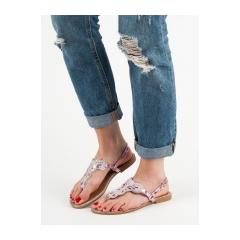 7da3ef381 Dámske ružové ploché sandále - BY0007P