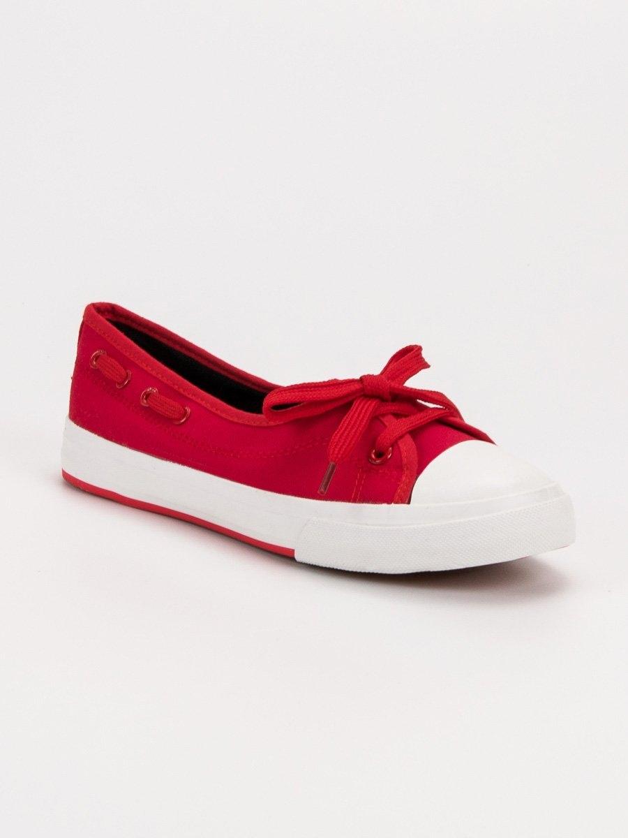 cffcca4aab Dámske nízke červené tenisky - S18-F-LD8A11R