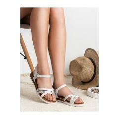 307ce0ceed089 Dámske biele sandále - S384W