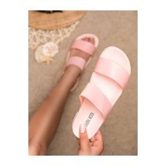 Dámske ružové gumové šľapky  - LS-112P