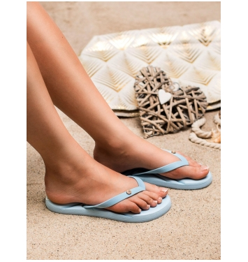Dámske modré plážové žabky  - BT9905BL