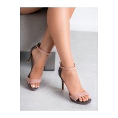 fc70fdf5a01a4 Dámske šedo ružové sandále - LE18-2866G/P