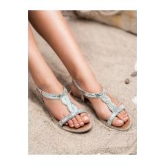 1f2892939d158 Dámske strieborné sandále - H532S