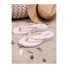Dámske ružové pletené žabky - NK16PI