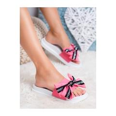 Dámske ružové šľapky LOVE - YQ10066F