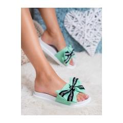 Dámske zelené šľapky LOVE - YQ10066GR