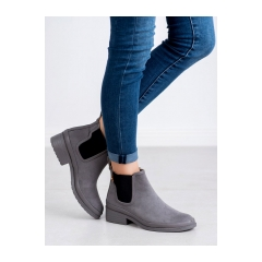 Dámske šedé členkové topánky  - K1871201G