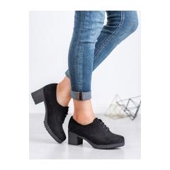 Dámske čierne členkové topánky  - JS7060B