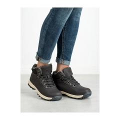 Dámske šedé zateplené trekingové topánky  - BM97445-12D.G