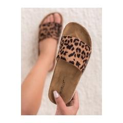 Dámske leopardie šľapky - BJS-003LEO