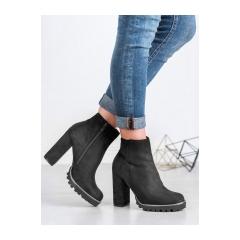 Dámske čierne členkové topánky  - LL6305B