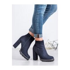 Dámske modré členkové topánky  - LL6305BL