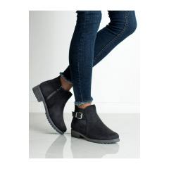 Dámske čierne členkové topánky - NB222B