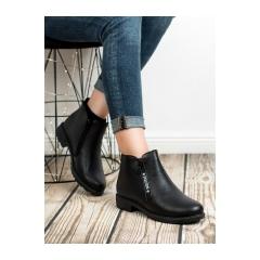 Dámske čierne členkové topánky - NB223B